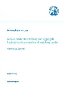 Labour market institutions and aggregate ... - Bank of England