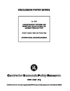 Labour Market Institutions and Monetary Policy in EMU: Do ... - SSRN