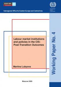 Labour market institutions and policies in the CIS - CiteSeerX