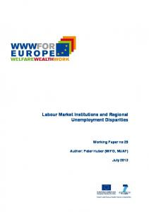 Labour Market Institutions and Regional ... - WWWforEurope