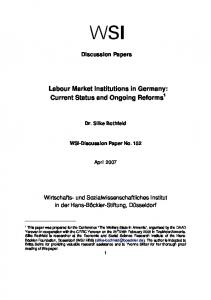 Labour Market Institutions in Germany: Current ... - Hans-Böckler-Stiftung