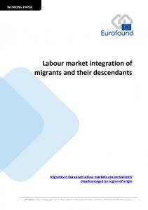 Labour market integration of migrants and their descendants