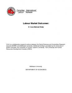 Labour Market Outcomes