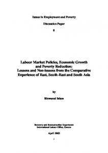 Labour Market Policies, Economic Growth and Poverty Reduction ...