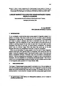 labour market policies for disadvantaged young people in ... - CiteSeerX