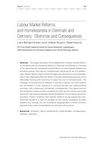 Labour Market Reforms and Homelessness in Denmark and ... - Feantsa