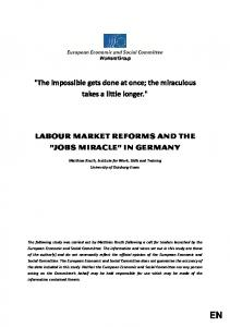 Labour market reforms and the - EESC European Economic and ...