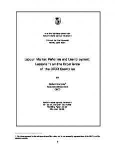 Labour Market Reforms and Unemployment - Semantic Scholar