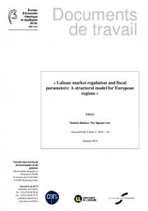 Labour market regulation and fiscal parameters: A ... - UMR 7522