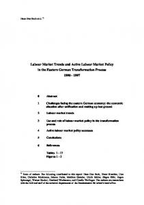 Labour Market Trends and Active Labour Market Policy in the ... - IAB