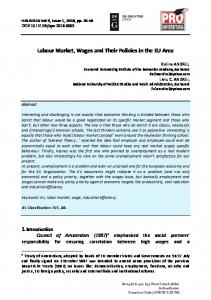 Labour Market, Wages and Their Policies in the EU ...