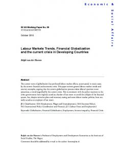 Labour Markets Trends, Financial Globalization ... - the United Nations