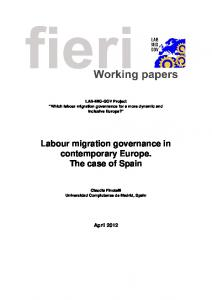 Labour migration governance in contemporary Europe ... - LabMigGov