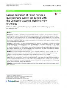Labour migration of Polish nurses: a ... - Human Resources for Health