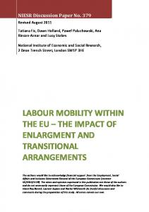 labour mobility within the eu - National Institute of Economic and ...