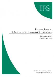 Labour supply: a review of alternative appraoches - Core