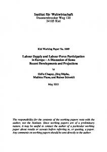 Labour Supply and Labour Force Participation in Europe