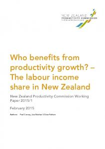Labour's share of income in New Zealand - Productivity Commission
