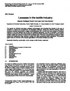 Lacasses in the textile industry - Academic Journals