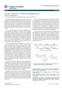 Laccase-Catalyzed CC Bond Forming Reactions