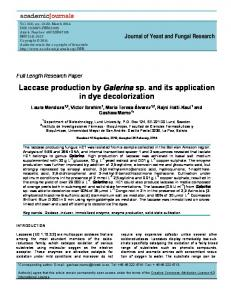 Laccase production by Galerina sp. and its ... - Academic Journals