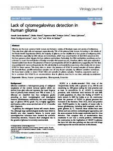 Lack of cytomegalovirus detection in human glioma - Virology Journal