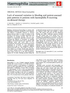 Lack of seasonal variation in bleeding and ... - Wiley Online Library