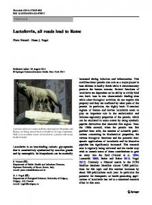 Lactoferrin, all roads lead to Rome - Springer Link
