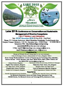 Lake 2018 - Centre for Ecological Sciences - IISc