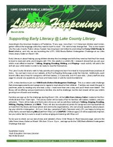 LAKE COUNTY PUBLIC LIBRARY