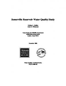 Lake Somerville Reservoir Water Quality Study - Texas Parks and ...
