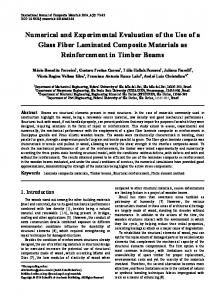Laminate composite materials, Timber beams, Structural ...