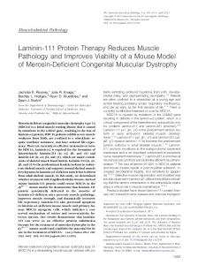 Laminin-111 Protein Therapy Reduces Muscle Pathology and ...