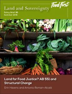 Land and Sovereignty - Food First