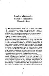 Land as a Distinctive Factor of Production - CiteSeerX