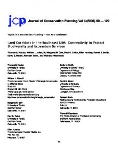 Land Corridors in the Southeast USA - Will Allen, The Conservation ...