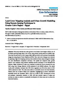 Land Cover Mapping Analysis and Urban Growth Modelling ... - MDPI