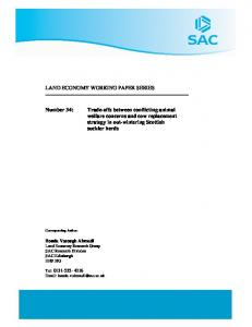 LAND ECONOMY WORKING PAPER SERIES ... - AgEcon Search