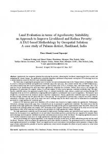 Land Evaluation in terms of Agroforestry Suitability, an Approach to ...