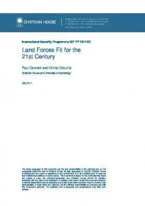 Land Forces Fit for the 21st Century pdf - Chatham House