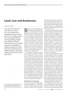 Land, Law and Resistance