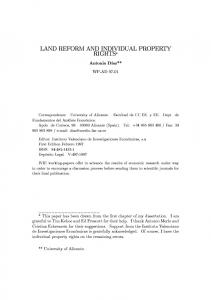 land reform and individual property rights - Instituto Valenciano de ...