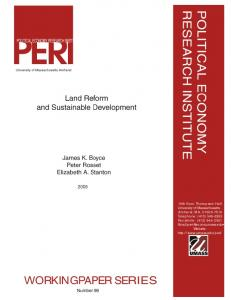 Land Reform and Sustainable Development