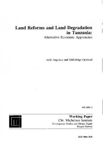 Land Reforms and Land Degradation - Core