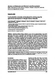 Land suitability evaluation of abandoned tin-mining areas for ...