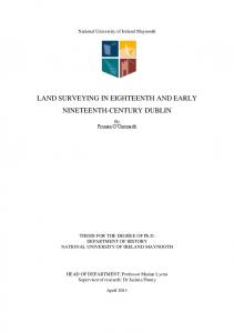 LAND SURVEYING IN EIGHTEENTH AND EARLY NINETEENTH ...