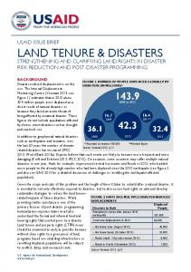 land tenure & disasters - USAID Land Tenure and Property Rights