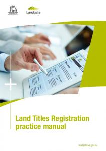 Land Titles Registration Practice Manual