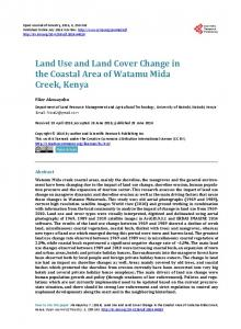 Land Use and Land Cover Change in the Coastal Area of Watamu ...