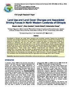 Land Use and Land Cover Changes and Associated ... - CiteSeerX